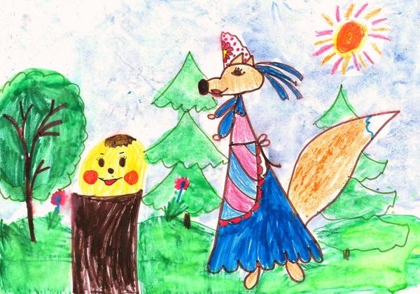 картинка народной сказки рисовать и обсудить каркас