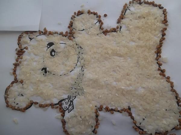 Картинки из риса и гречки, лиза картинки приколы