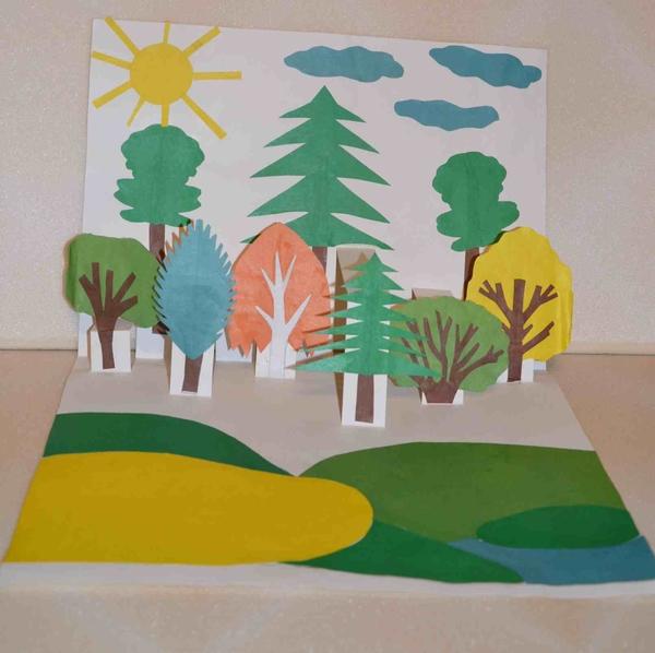 Днем, открытка ландшафт урок технологии 3 класс пнш шаблоны