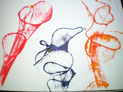 Материал по рисованию (подготовительная группа) на тему: Нетрадиционная  техника рисования- ниткография. | Образовательная социальная сеть