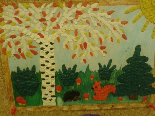 Картинки про осень из пластилина