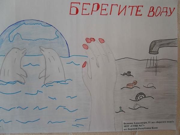 Берегите воду плакат раскраска
