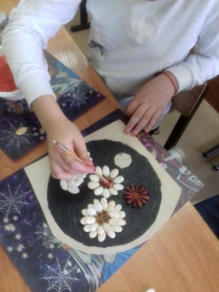 Благовещения, картинки от литьевого основы из семечек тыквы и фасоли