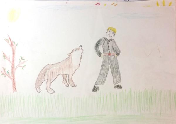 сложный процесс рисунок к сказке петя и волк картинки кофе несут