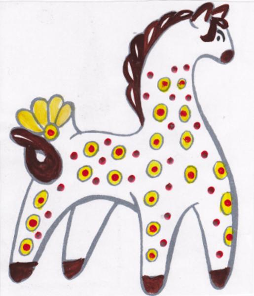 Дымковская игрушка рисунки для детей
